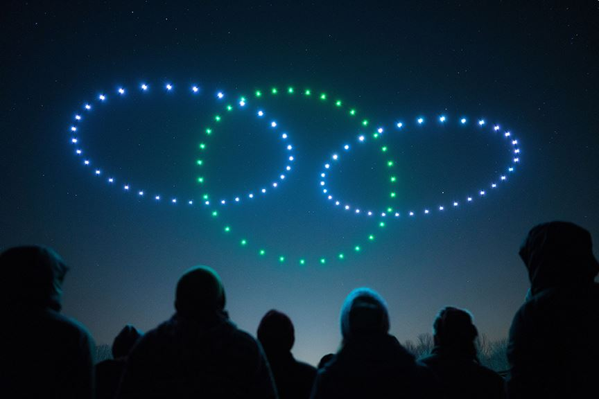 Illuminated Drone Show Rings